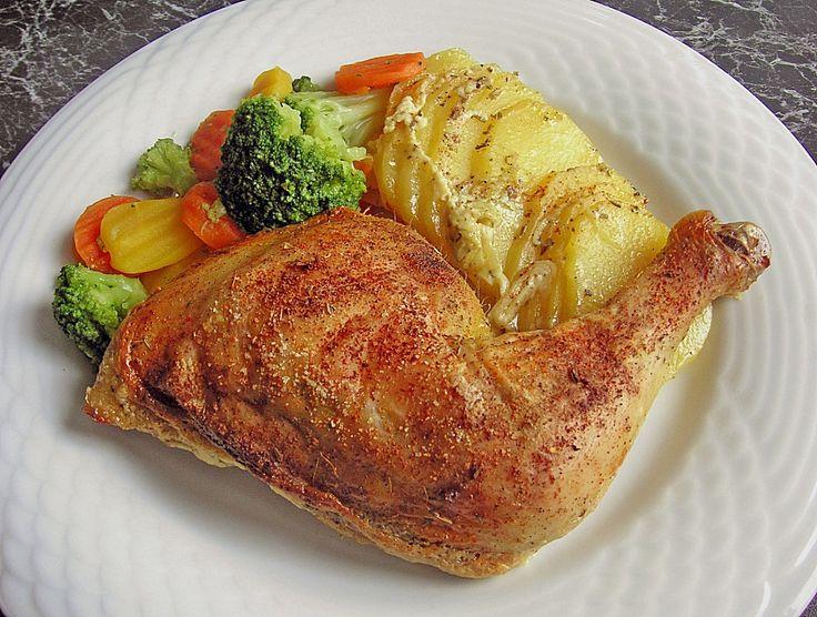 Gebackene Hähnchenkeulen auf Kartoffeln, ein beliebtes Rezept aus der Kategorie Braten. Bewertungen: 292. Durchschnitt: Ø 4,4.