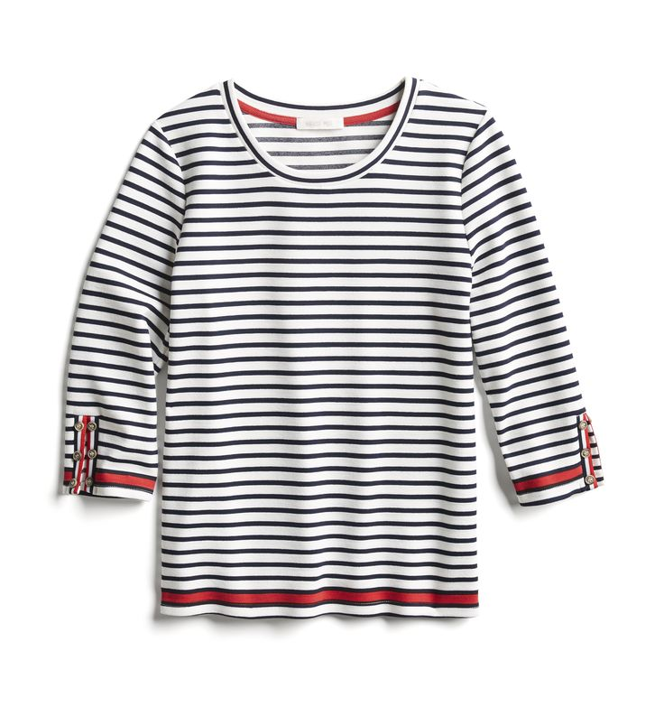 Stitch Fix Spring Stylist Picks: Navy and white striped nautical tee