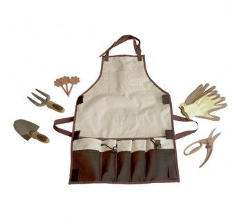 The Garden Apron With Pockets And Garden Tools Included