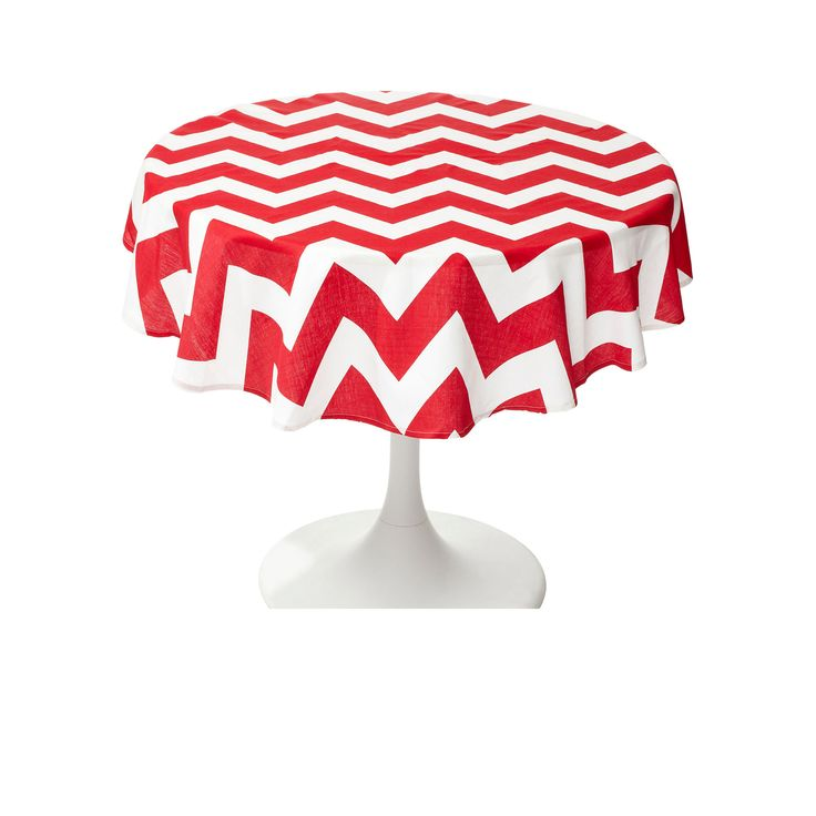 #Chevron tablecloths are a #decorative and #useful addition to any table.  Check out this wonderful RED Round #Chevron Tablecloth.  It´s perfect for adding a #splash of #color to your special times!  Do you want to see more about this #collection?  Visit our page -->http://goo.gl/XkqEzD  #COLOR #STRIPES #COLOR #RED #CHEVRON #FTF