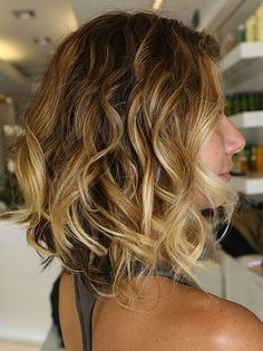 loose curls for long angled bobs - Google Search