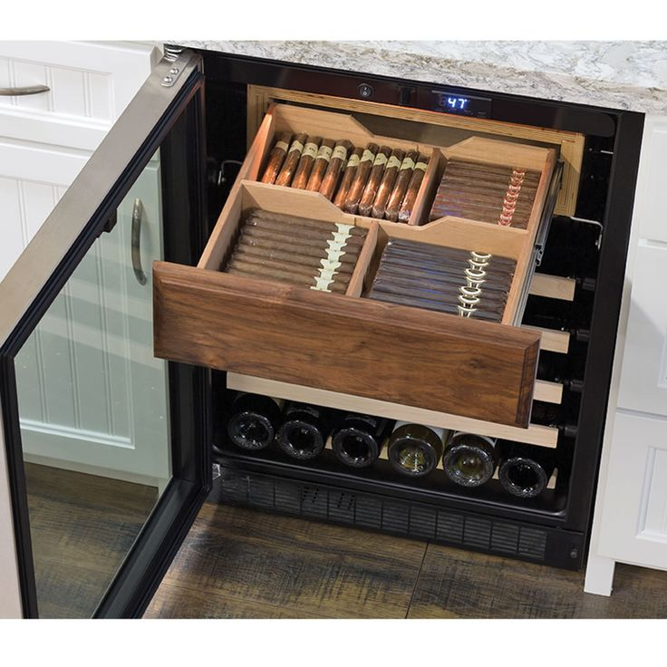 The Aficionado's Cigar Humidor And Wine Refrigerator - Hammacher Schlemmer