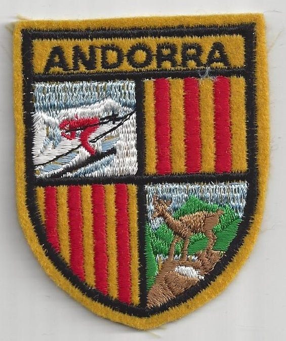 Souvenir Patch Country of Andorra Skiing Snowboarding | eBay