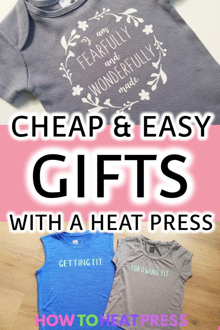 10 Easy Things You Can Make With A Heat Press Machine Heat Transfer Vinyl Projects Heat Press Projects Cricut Heat Transfer Vinyl