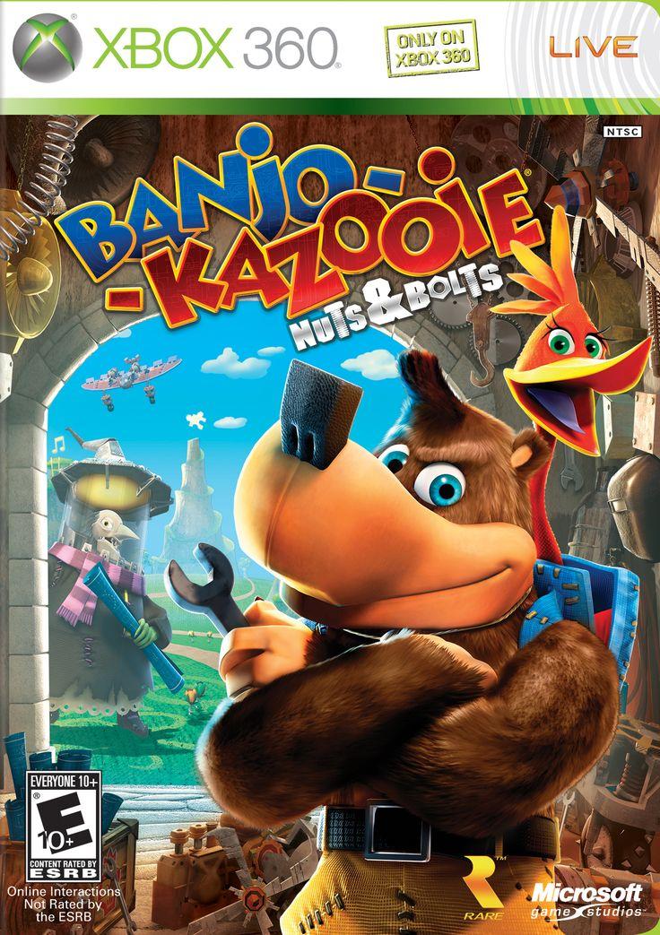 BanjoKazooie Nuts & Bolts box art (Xbox 360, 2008