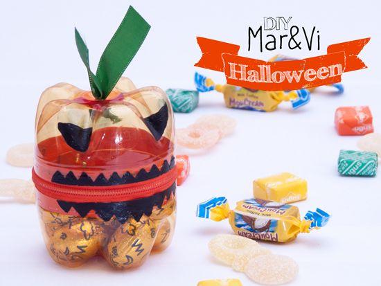 Una manualidad divertida para Halloween: cómo hacer una caja con forma de calabaza de Halloween. Paso a paso de una manualidad infantil de Halloween muy fácil.