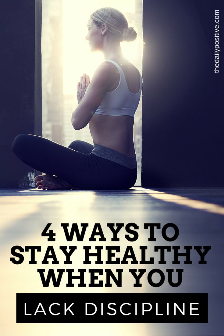 It's important for all of us to find a way to be healthy one way or another because a lack of discipline is a lack of respect for ourselves. So here's some tips on how to respect our health, even while we lack discipline.