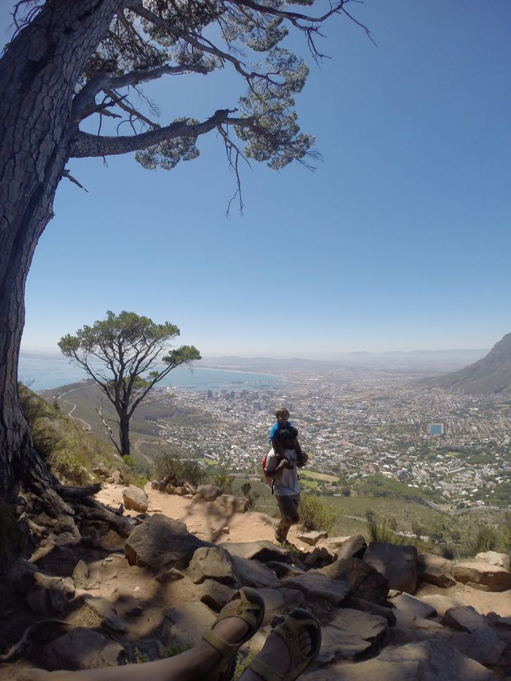 Hiking in Cape Town, South Africa.