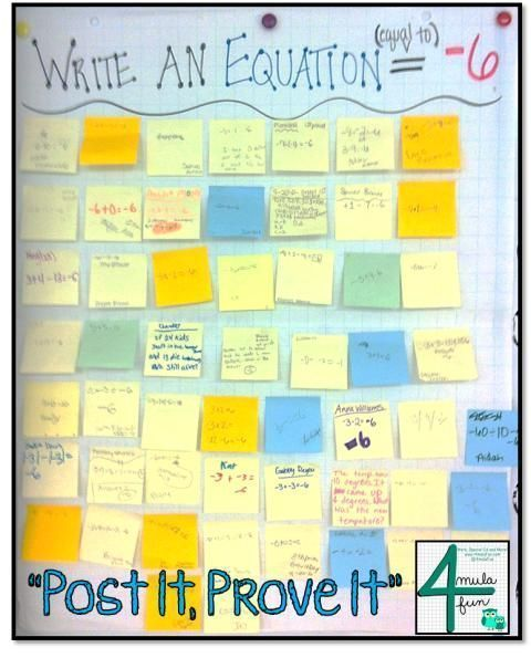 Post It, Prove It – exit ticket activity for checking understanding!