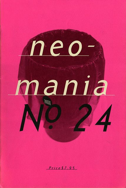 "cMag396 - Emigre Magazine cover ""Neomania"" by Rudy Vanderlans / Issue nº 24 / 1992"