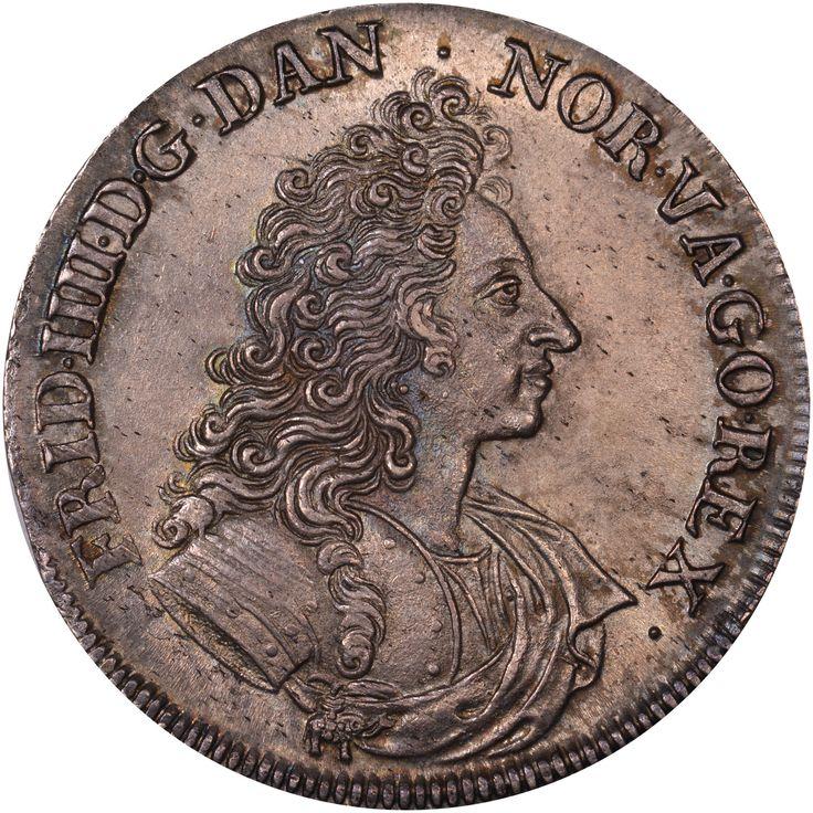 Denmark 1702 Krone, 4 Mark KM# 448 https://www.ngccoin.com/price-guide/world/denmark-krone-4-mark-km-448-1699-1702-cuid-65334-duid-182985