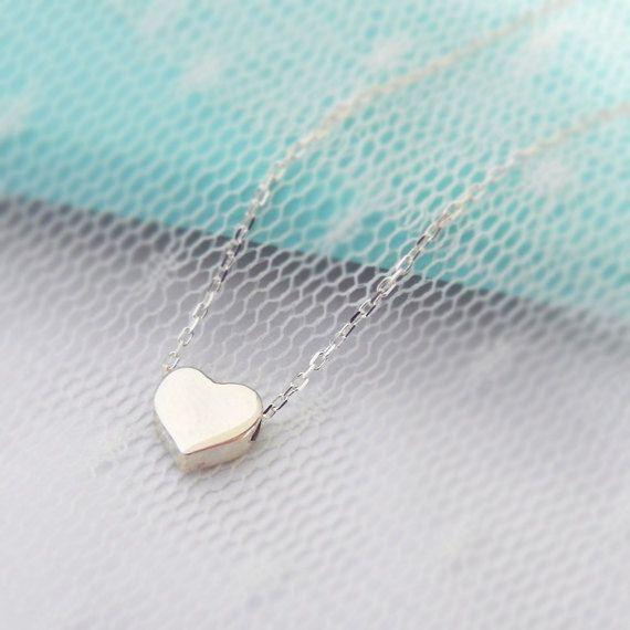Sterling Silber Herz-Halskette von BLACKKOLLABO auf Etsy