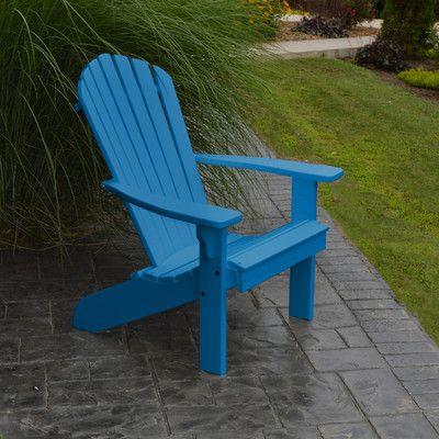 A&L Furniture Traditional Adirondack Chair Finish: Blue