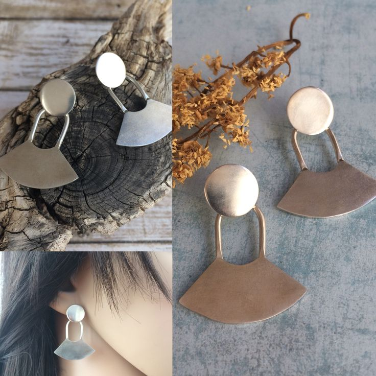 Sterling silver stud earrings. Ethnic inspiration. Handmade by Carla Amaro