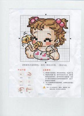 Artes da Nique: Ponto cruz gráfico Bebês