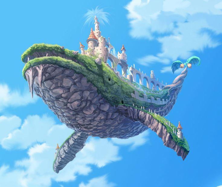 Flying Whale Island | Flight | Pinterest | Illustrations ...