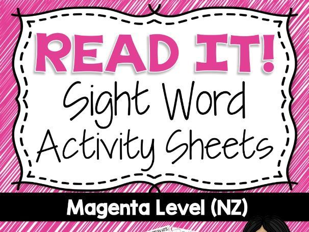 20 Year One Magenta Level Sight Words based on the New Zealand Curriculum High Frequency Sight Words. Use this as part of your Word Work Daily 5 activities, or as an addition to your writing program. A great bonus – NO PREP! Just PRINT and GO!<br /> <br /...