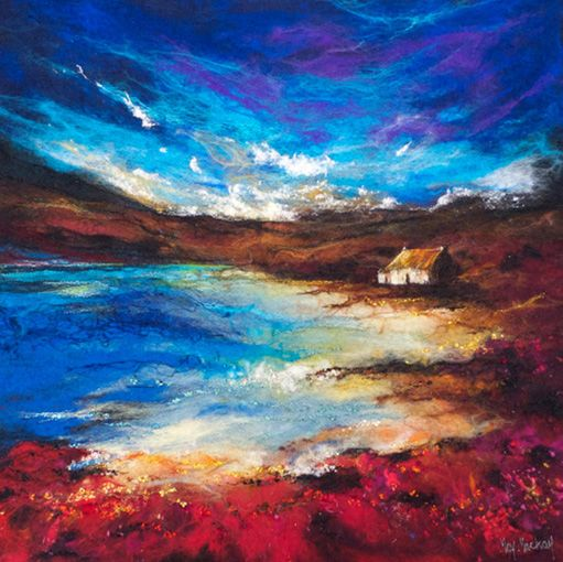 MMC-my-highland-dream by Moy MacKay - felt painting