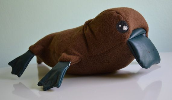 duck billed platypus plush toy by TheMarmaladeForest on Etsy