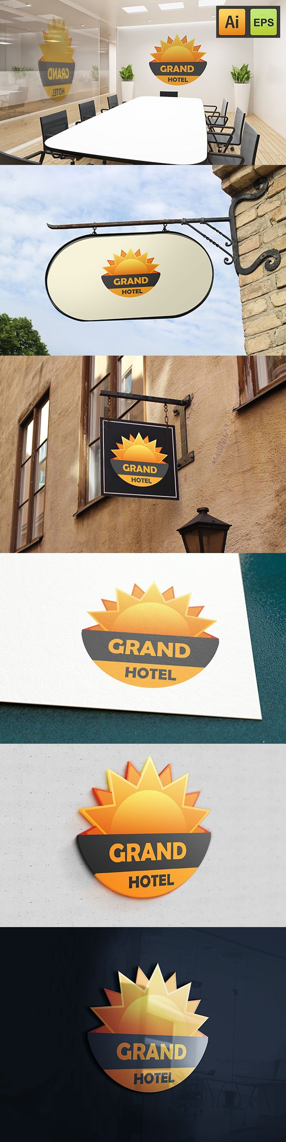 """@Behance projeme göz atın: """"Grand Sun Hotel""""…"""