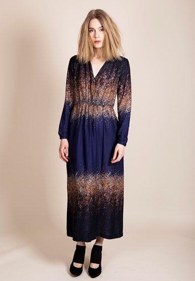 the dreamiest dress Rodebjer - Vixen Twilight Blue Dazzle large-1