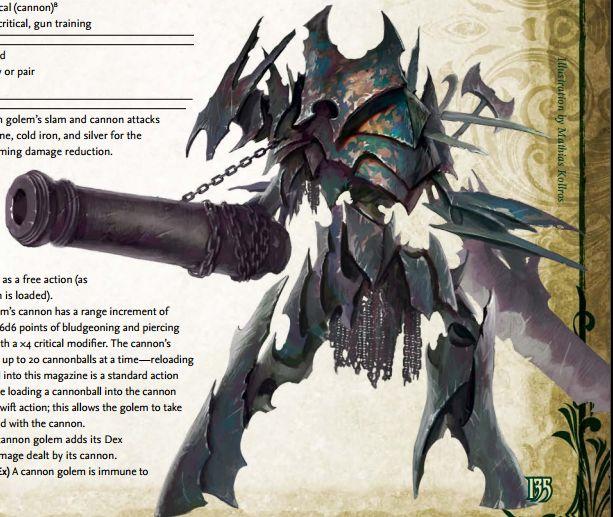 Cannon Golem Fantasy Pathfinder Pinterest