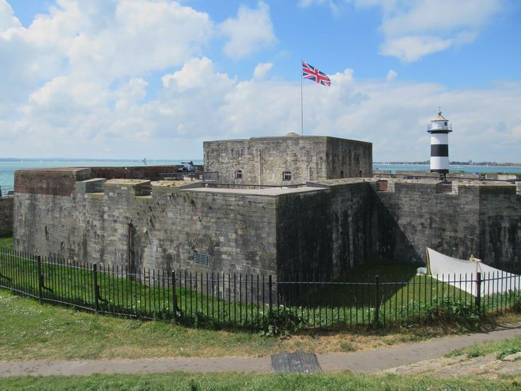 Southsea Castle near Portsmouth, England, was built in 1544 by Henry VIII for coastal defense.