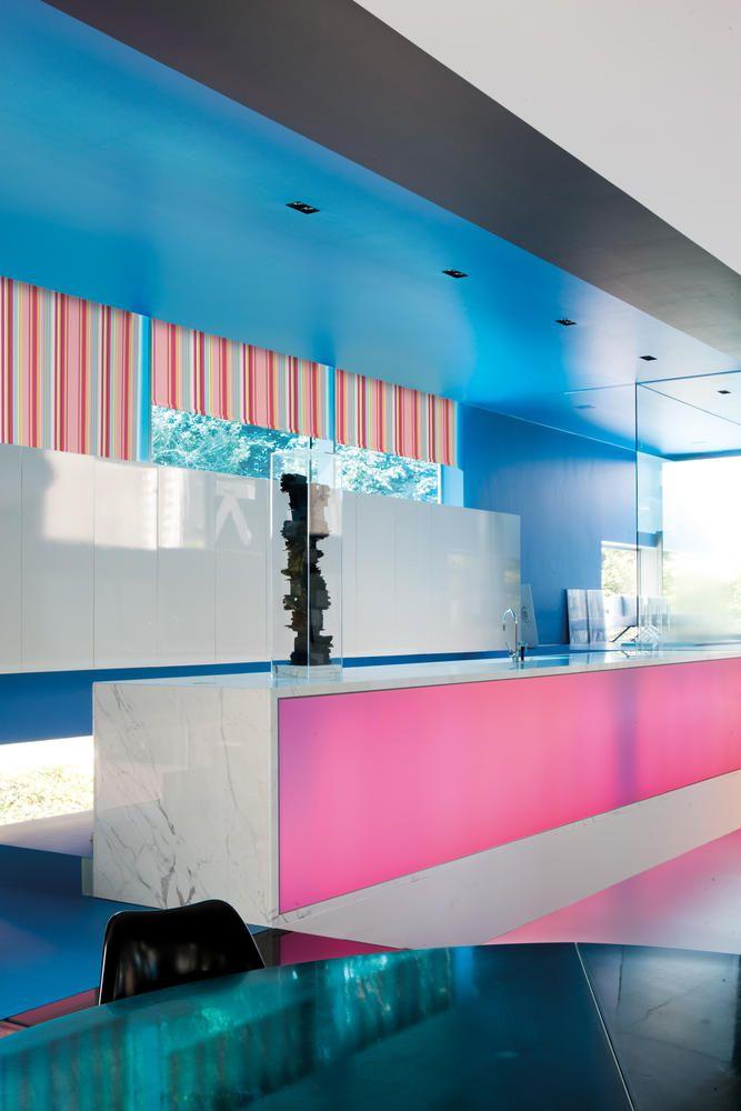 Copahome raamdecoratie rolgordijn black out verduisterend roze blauw / La décoration de fenêtre. Store enrouleurs obscurci rose bleu