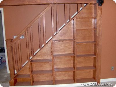Bookcase stair railing gallery of how to build a bookshelf stair rail home decor pinterest - Basement stair ideas pinterest ...