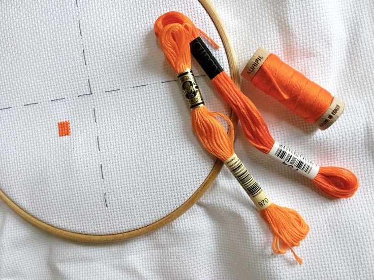 how to cross stitch floss