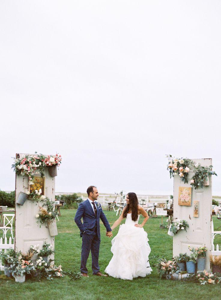 #door  Photography: Jen Huang - JenHuangBlog.com  Read More: http://www.stylemepretty.com/2015/01/26/romantic-natural-cape-cod-wedding/