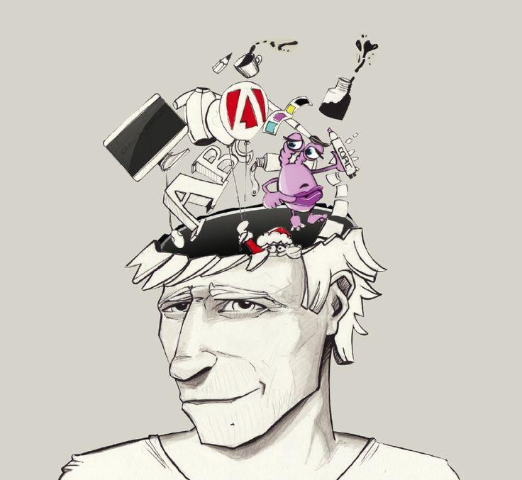Andreas Wimmer. Selbstportrait. Karikatur von Dir auf gezeichnet.com