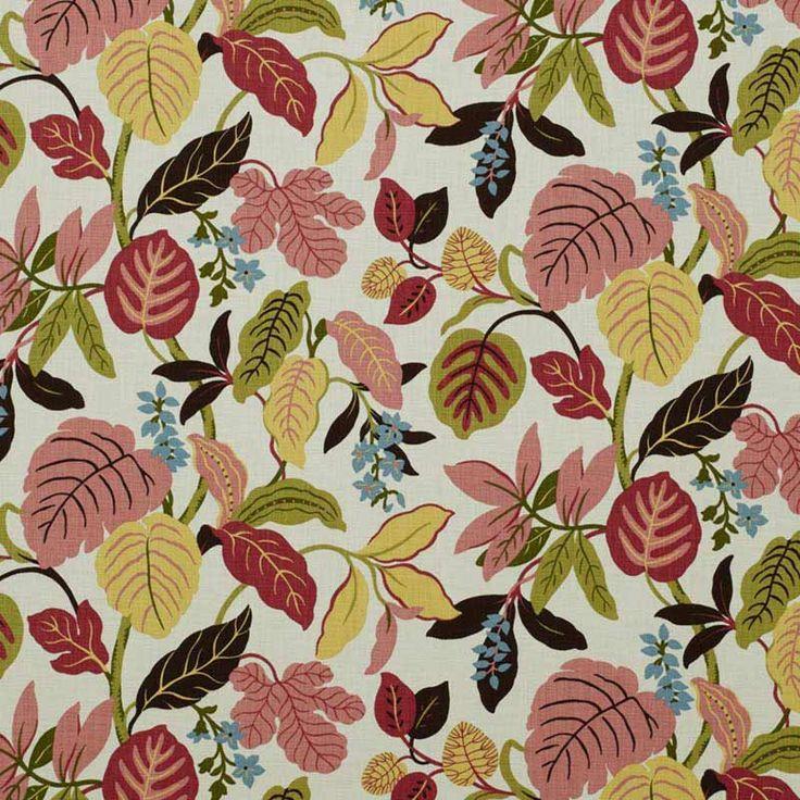 Warwick Fabrics : ELVIRA, Colour FRUIT PUNCH