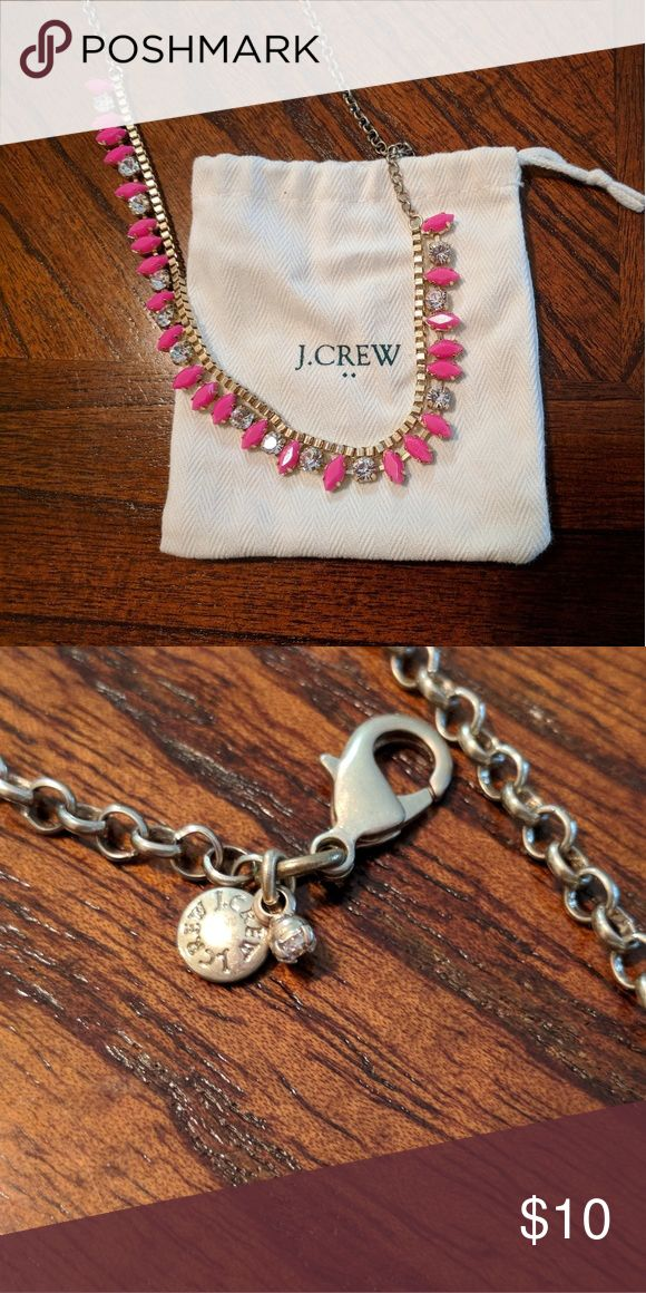 JCREW Pink Statement Necklace PRETTY IN PINK 🌸 Statement necklace from J.Crew in very good condition. No stones missing. Slight but unnoticeable tarnish near the clasp. Comes with J.Crew jewelry bag. J. Crew Factory Jewelry Necklaces