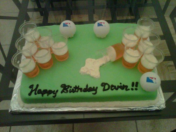 Beer Pong Cake Beer Pong Cake Cake Cupcake Cakes