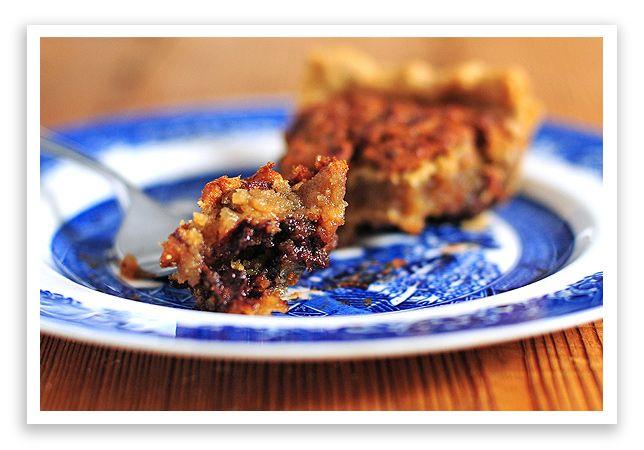 Chocolate Bourbon Pecan Pie: Recipe