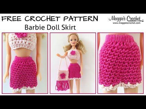 Easy Crochet Doll Skirt Pattern : Doll Skirt Free Crochet Pattern - Right Handed - Maggies ...