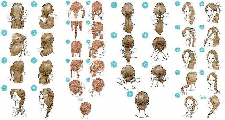 The best Easy Hairstyles. #easyhairstylesforschool