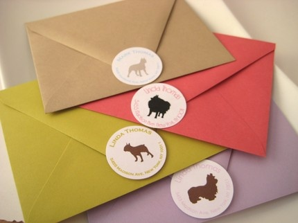 Customized address labels. Darling!