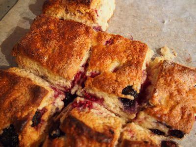Thermomix recipe for delicious, fast berry scones.