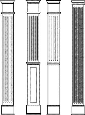 Square Fluted Columns: Providers of DIY columns. See us for a column, house decorative column, hplc columns, porch columns, wood columns, pilaster, column caps and bases, mansion columns and decorative columns.