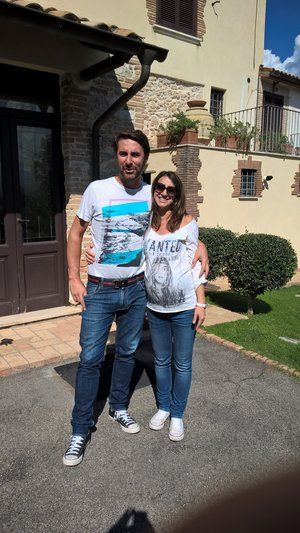 Giacomo and Elenora , your welcoming hosts at your country hotel. www.tastetrailsrome.com