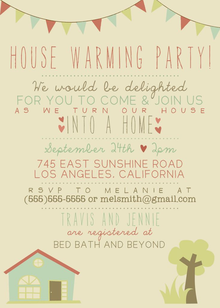 House Warming Party Invitation - Printable, Custom. DIY - VINTAGE, RUSTIC. $12.00, via Etsy.