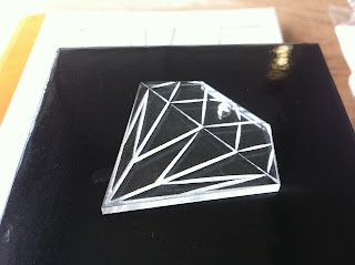 Camilla Jean - a laser cut acrylic diamond.   I might use it as a keychain or a necklace.