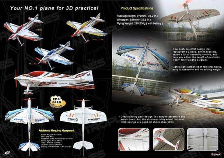 Tech One RC 4 Channel Venus EPO RC Airplane Kit Version (Red) RC Remote Control Radio
