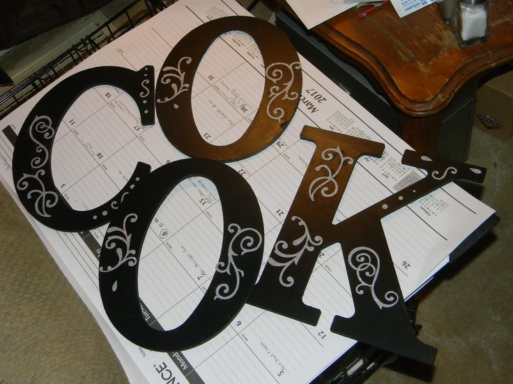 Best 25+ Wood Letters Decorated Ideas On Pinterest