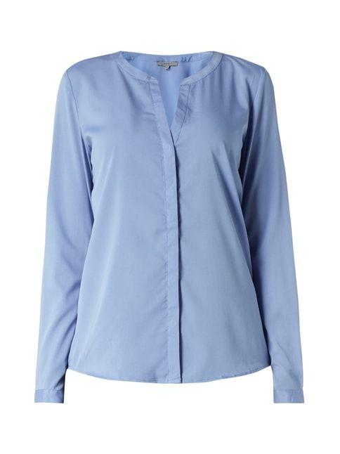 Bluse aus fließendem Material Blau / Türkis - 1