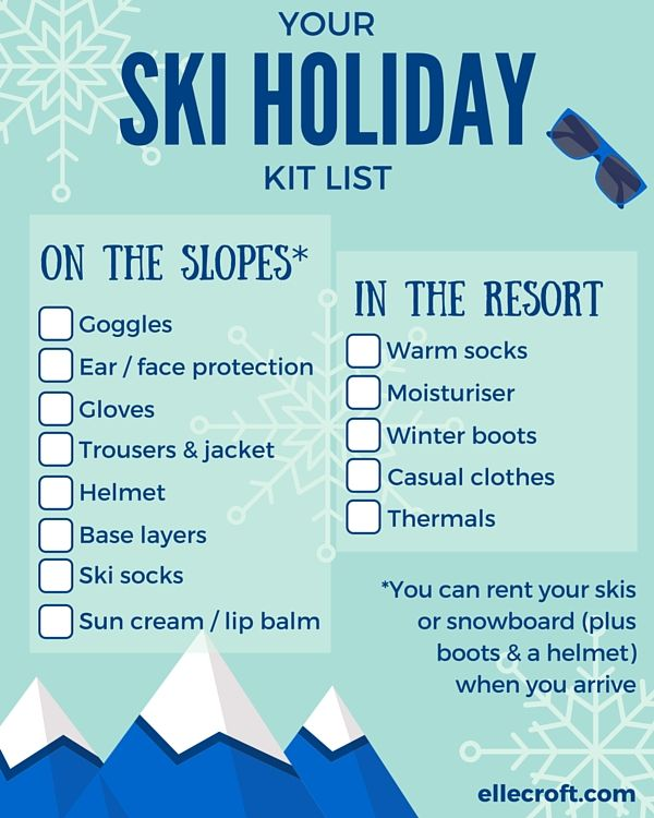 How to pack for a skiing (or snowboarding) holiday