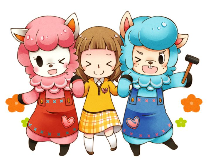 animal crossing new leaf, reese, lisa, cyrus