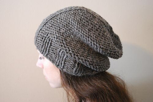 """D E U X - Hat design by Lisa Mutch -  This bulky weight hat was made to match my """"Huit"""" cowl because, well, I'm matchy-matchy like that. It knits up quickly in reverse stockinette stitch on US 11 needles and has the perfect amount of slouch. http://www.ravelry.com/patterns/library/deux-2"""